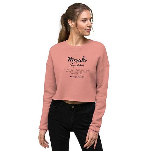 Mint Heather Pink Crop Meraki Sweatshirt for women - gifts for her