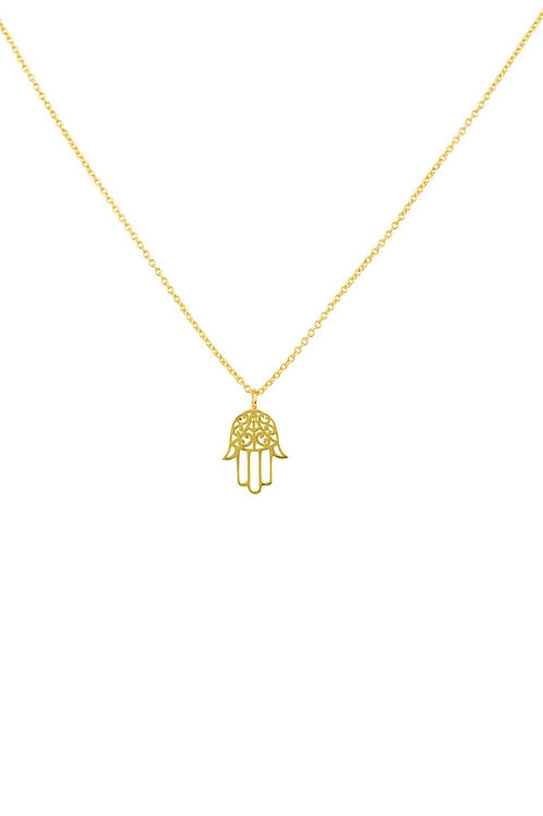 Handcrafted Hamsa Hand Necklace - Sterling Silver