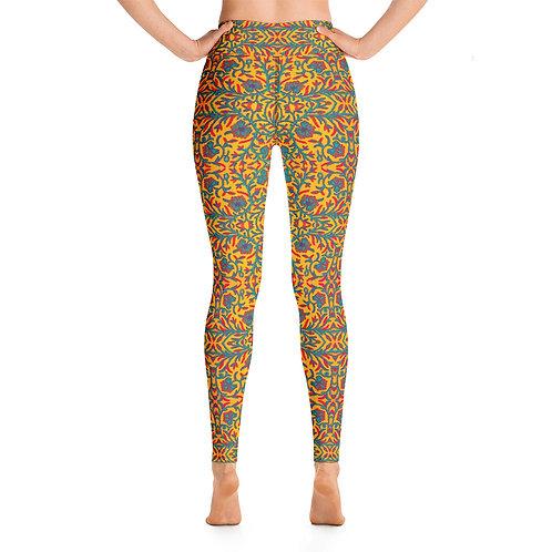 Bohemian Chic Yoga Leggings Back Side View