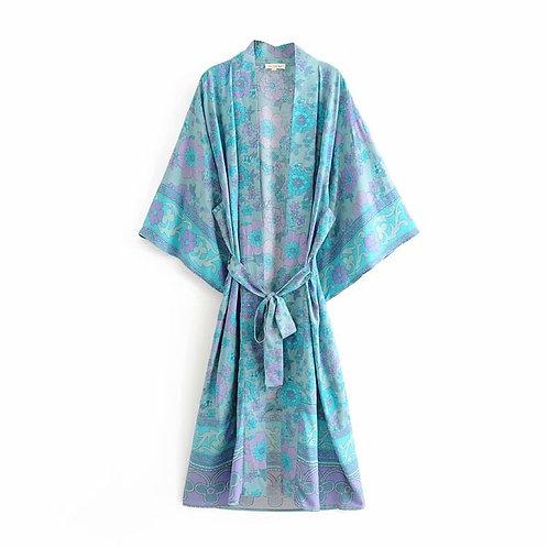 Nusa - Colourful Kimono Dressing Gown for Women