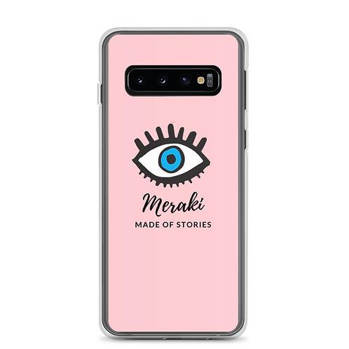 Meraki Phone Case with Blue Eye - Pink Samsung Case