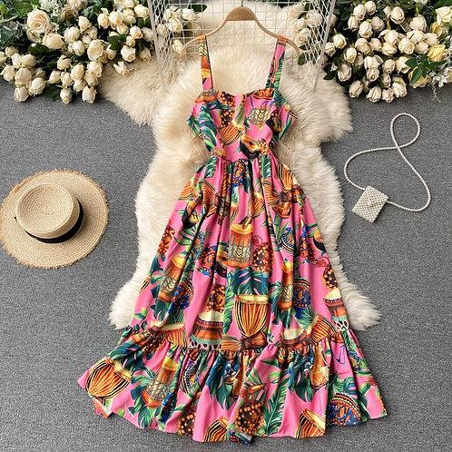 Exotica - Sling Dress in Midi Length