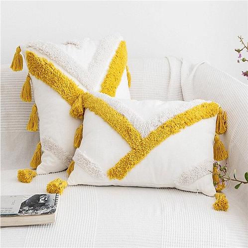 Bali - Boho Cushion Cover with tassels Bohemian pillow covers