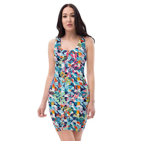 Carnival Confetti - Colourful Designer Fitted Dress