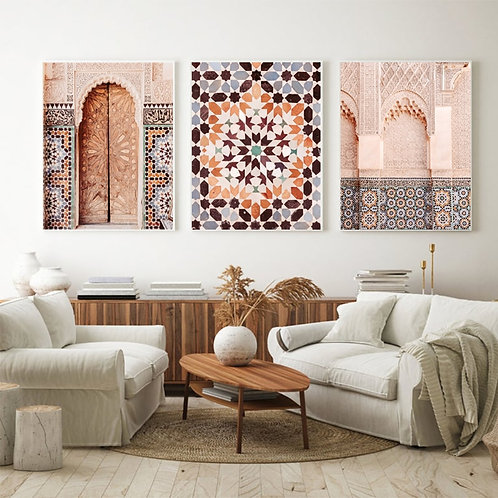 Moroccan Patterns Wall Art - Canvas Poster