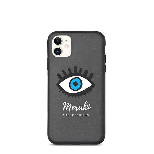 Meraki iphone case - Blue Eye Eco-friendly and biodegradable iphone case