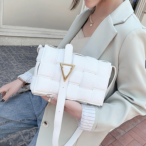 Athina Womens White Handbag