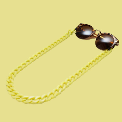 Yellow Sunglasses Chain and Mask Garland