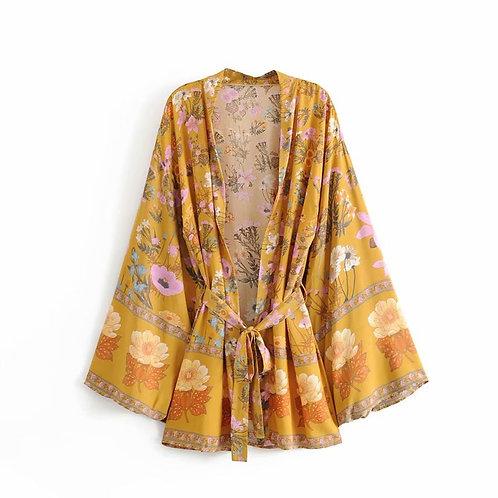 Bunga-bunga Bali Short Kimono Cardigan