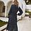 Thumbnail: Zelda - Navy Blue Long Sleeve Midi Dress