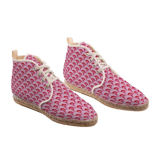 Rose City - High Top Handmade Espadrille Ankle Shoes