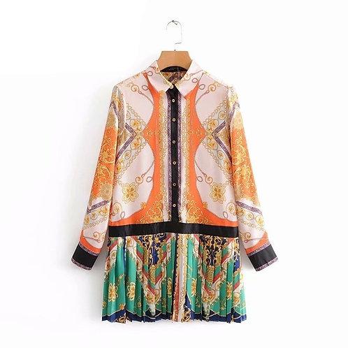 Salima - Patchwork Satin Shirt