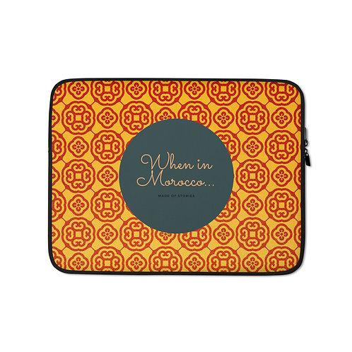 Merzouga - boho style colourful laptop case - snug fit laptop cover