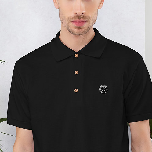 Opa - Embroidered Blue, Red Cotton Polo Shirt - Classic Polo for Men