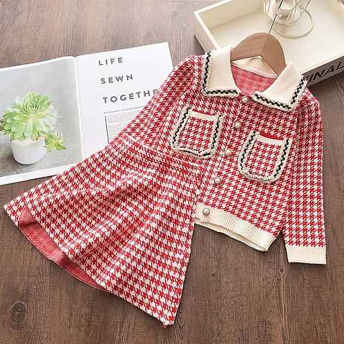 Tweed - Baby Girls Clothes Knitted Outfit Sweet Clothing Set Gift ideas