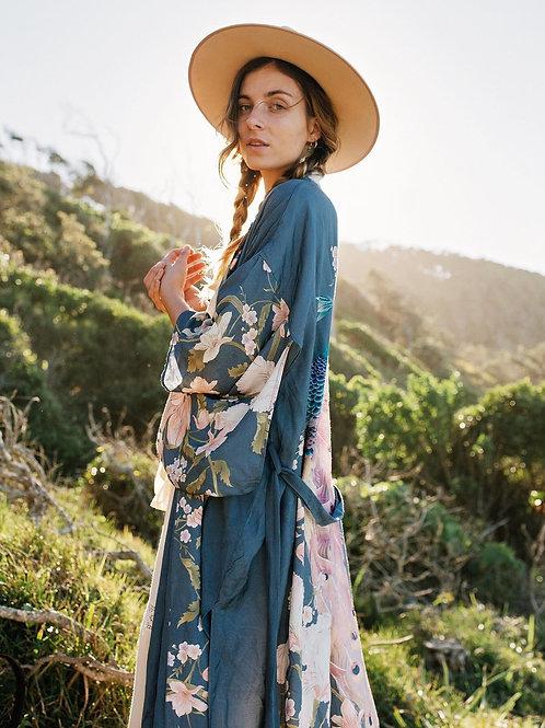 Bali - Colourful Boho Kimono Dressing Gown Cardigan for Women Staycation wear