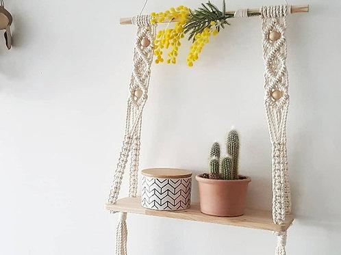 Macrame Hanging Wall Shelf