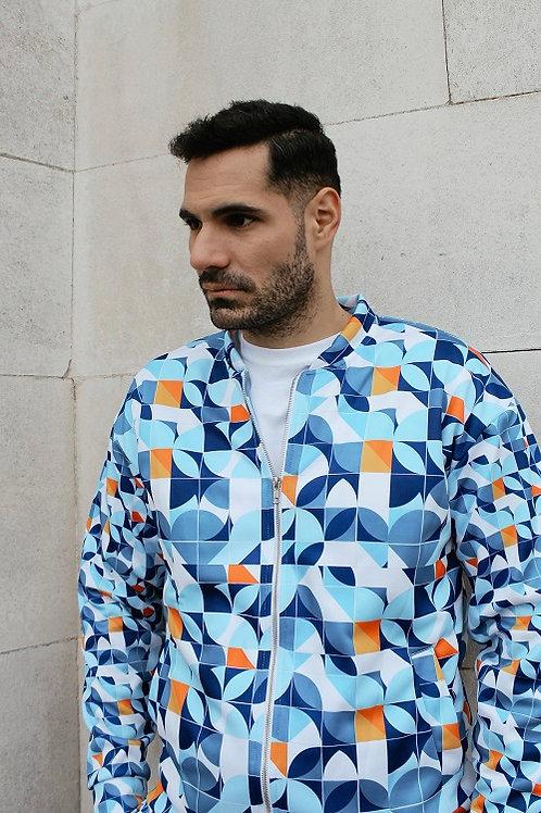 Azul - Designer Bomber Jacket