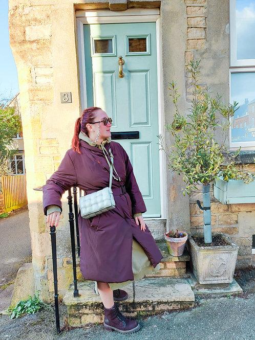 Olive - Leather Style Crossbody Bag