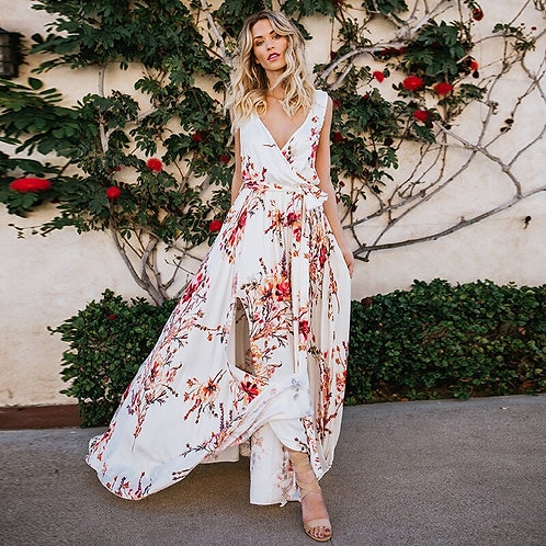 Rio - Red Floral Dress