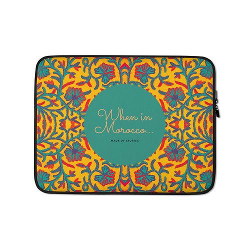 Marrakesh - boho style colourful laptop case - snug fit laptop cover