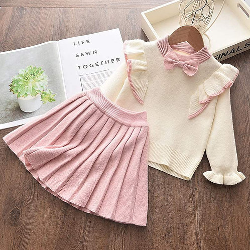 Sweet Bow - Baby Girls Clothes Knitted Outfit Sweet Clothing Set Gift ideas
