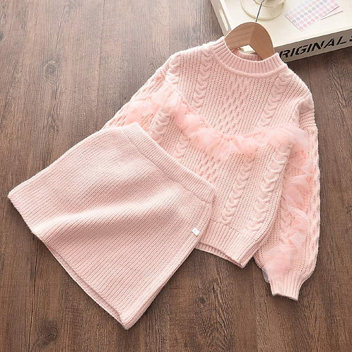 Sweet Knit - Baby Girls Clothes Knitted Outfit Clothing Set Gift ideas