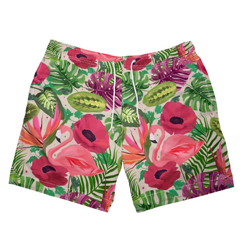 Flamingo - Designer Swimming Shorts for Men
