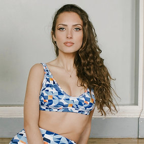 Azul - Recycled high-waisted bikini