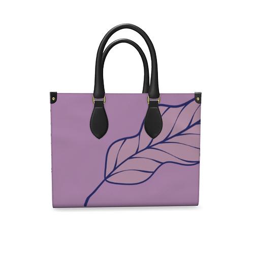 Folha Roxa - Handmade Designer Real Leather Bag