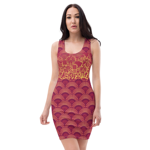 Felicidade - Colourful Designer Fitted Dress