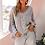 Thumbnail: Grey Bohemian Sweater - Female Knitted Jumper