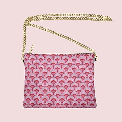 Pink City Designer Bag - Handmade Real Leather Crossbody Bag