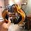Thumbnail: Embellished Knotted Turban Headband - Blue Yellow