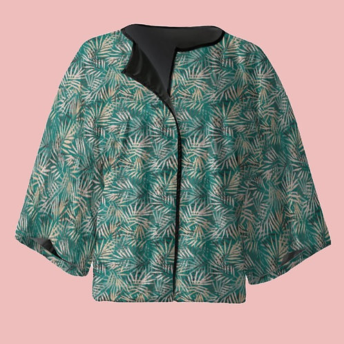 Floresta - Velour Kimono Blazer with Silk Lining