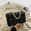 Thumbnail: Athina Womens Black Handbag with Gold Chain