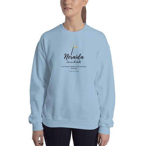Neraida Sweatshirt - Womens Sweatshirt with Greek word Neraida - Gift for Her