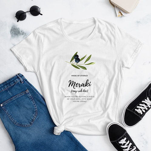 Gaia Meraki Women's short sleeve t-shirt Staycation wear