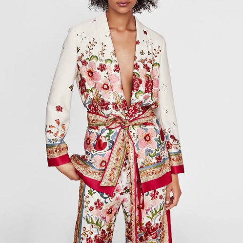 Verme - Floral Soft Blazer and Trousers