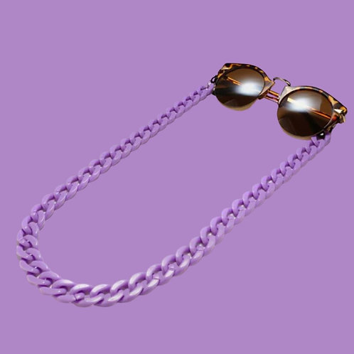 Purple Sunglasses Chain and Mask Garland