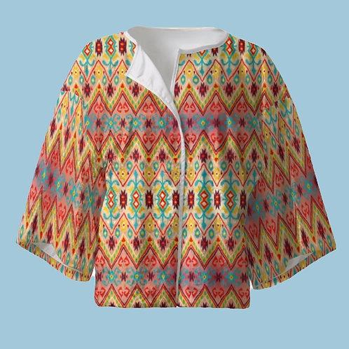 Carnaval - Velour Kimono Blazer with Silk Lining