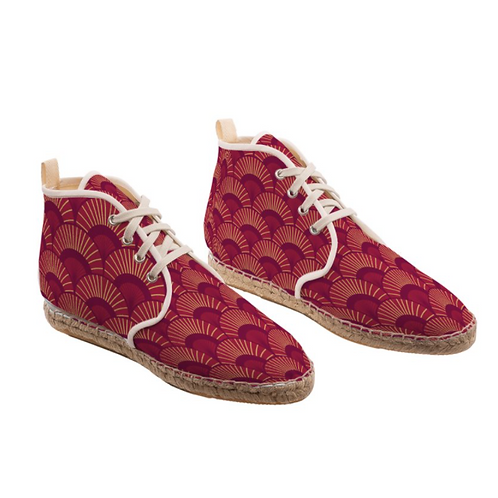 Paixao - High Top Handmade Espadrille Ankle Shoes