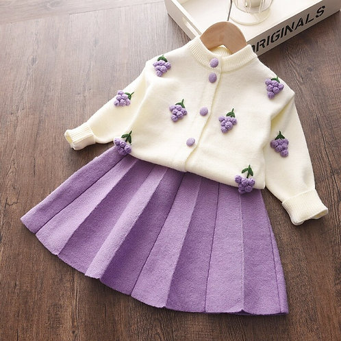 Sweet Baby Girls Clothes Knitted Outfit Sweet Clothing Set Gift ideas