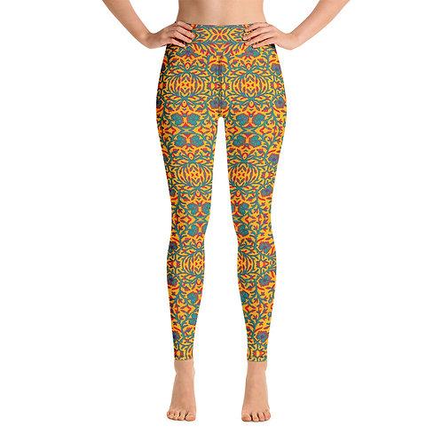 Bohemian Chic Yoga Leggings Front View