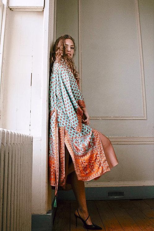 Jimbaran Colourful Kimono Dressing Gown for Women