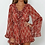 Thumbnail: Gueliz - Boho Playsuit with Frilled Sleeves