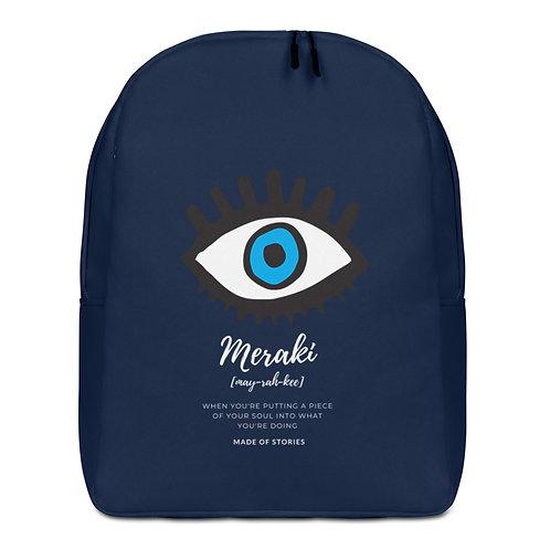 Designer Backpack Meraki in Blue with Blue Eye Design