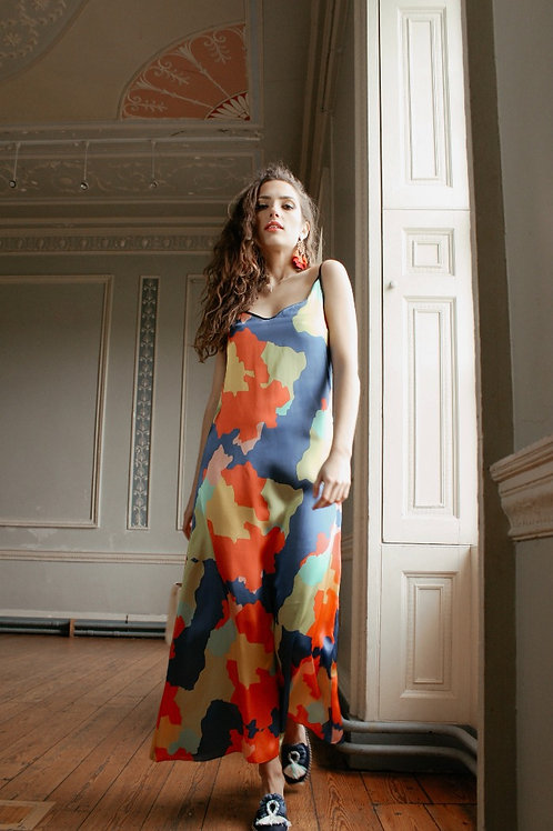 Mapa Colorido - Colourful Luxury Dress