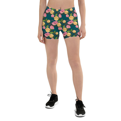 Nymphaea - Designer Running Shorts Women