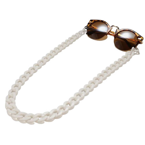 White Sunglasses Chain and Mask Garland
